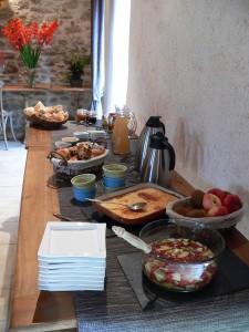 Le petit déjeuner pour un séjour en chambres d'hotes nantes