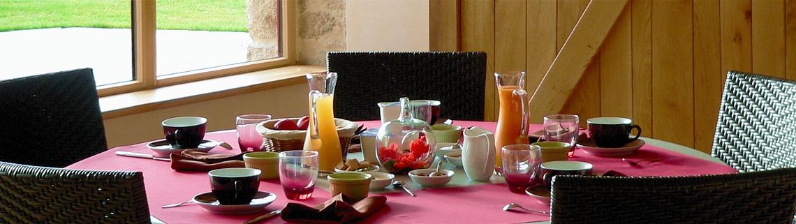Table d'hotes et petit dejeuner nantes
